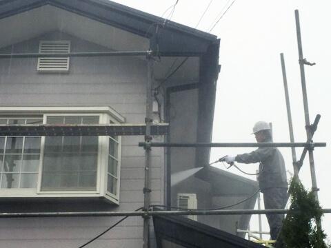 塗装前のS邸の写真