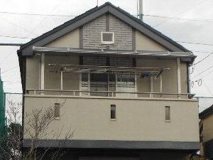 「付帯部分と屋根の塗装も同時に行いました(神奈川県南足柄市)」のBefore写真