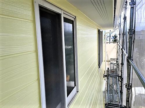 「可愛らしいパステルカラーの外壁に大変身(東京都八王子市)」のAfter写真