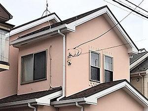 「柔らかいオレンジ色の外壁を、柔らかなピンクへ!(神奈川県大磯町)」のAfter写真