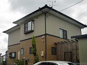 「淡い黄色ときりっとした黒で、マイホームを明るい雰囲気に!(神奈川県愛川町)」のBefore写真