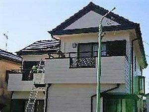 「ツタを取り除きベランダの防水工事も行って外壁の不安を一新!(神奈川県逗子市)」のAfter写真