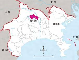 愛川町マップ