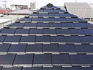「天然風の人工スレート屋根が塗装でピカピカに!(神奈川県愛川町)」のAfter写真