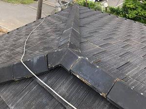 「色あせたスレートを関西ペイントのシリコン塗料で屋根塗装!(神奈川県大磯町)」のBefore写真