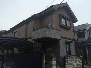 「外壁の色を変えて住宅のイメージチェンジ!フッ素塗料で塗り替え工事(東京都目黒区)」のBefore写真