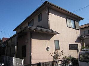 「築9年の住宅をシリコン塗料で外壁塗装!よりいっそう美しくなった住宅(神奈川県海老名市)」のBefore写真