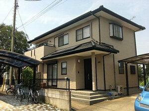 「レンガ調サイディングを外壁塗装!クリーム色に大変身した事例(東京都目黒区)」のAfter写真