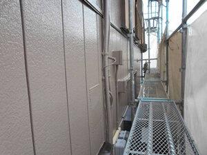 「古びた外壁をモダンカラーに塗り替え!木部も塗装した事例(神奈川県平塚市)」のAfter写真