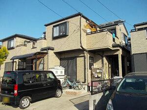 「ツートンカラーのおしゃれな住宅に変身!屋根とバルコニーも塗装!(東京都武蔵野市)」のBefore写真
