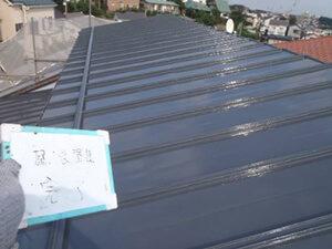 「トタンの屋根を遮熱塗料で塗り替え工事した事例(神奈川県三浦市)」のAfter写真