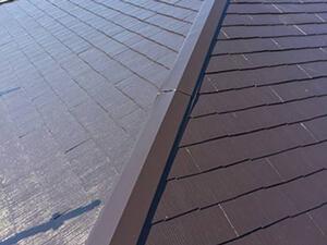 「新築から20年が経過して劣化した屋根を美しく塗り替えた事例(東京都稲城市)」のAfter写真