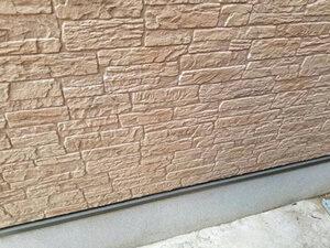「石壁風サイディングをクリアー塗装!ピカピカに塗り替えた事例(東京都目黒区)」のBefore写真