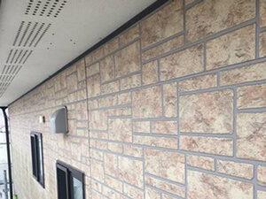 「外壁をクリアー塗装で塗り替え!金属製の雨どいもまとめて塗装(東京都八王子市)」のBefore写真