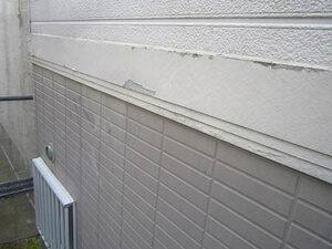 「サイディング外壁をツートンカラーで塗装!美観が復活した事例(東京都目黒区)」のBefore写真