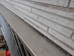 「洋風住宅をクリアー塗装!デザインそのままでピカピカになった事例(神奈川県綾瀬市)」のBefore写真