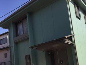 「築13年の住宅を外壁塗装!グリーンにイメチェンを果たした事例(東京都武蔵野市)」のAfter写真