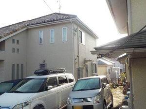 「おしゃれな洋風住宅をオフホワイトで塗装!清潔感と明るさがアップ!(神奈川県三浦市)」のBefore写真