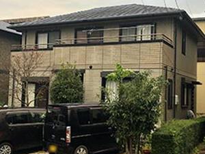 「ネイビー×ホワイトのツートンカラーで塗装!近代的デザインのY様邸(東京都目黒区)」のBefore写真