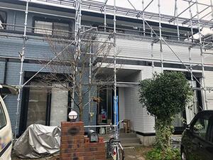 「ネイビー×ホワイトのツートンカラーで塗装!近代的デザインのY様邸(東京都目黒区)」のAfter写真