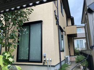 「築9年のモルタル外壁を塗装!外壁塗装では高圧洗浄が大切です!(東京都福生市)」のBefore写真