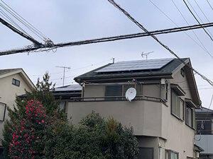 「外壁をベージュに塗り替え!軽やかで明るい住宅に変身したA様邸(東京都羽村市)」のBefore写真