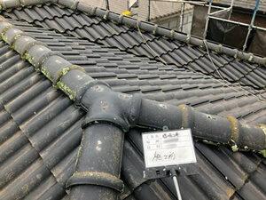 「コケが生えたセメント瓦を塗り替え!美しさを取り戻した事例(東京都稲城市)」のBefore写真