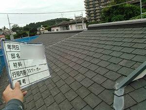 「色あせた屋根を濃いめのグリーンで塗装!美しさを取り戻したY様邸(千葉県市川市)」のBefore写真