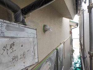 「築14年のモルタル外壁を塗装工事!付帯部分もきれいに塗りかえ(千葉県市川市)」のBefore写真