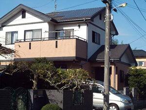 「外壁と屋根をまとめて塗装!おしゃれな洋風住宅に仕上がったM様邸(千葉県船橋市)」のBefore写真