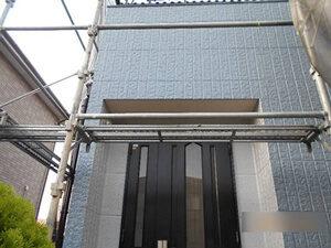 「ブルー×オフホワイトのツートンカラーで外壁塗装したK様邸の事例(神奈川県横浜市)」のAfter写真