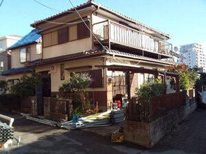 「モルタル外壁をシリコン塗料で塗装工事!美しさを維持した事例(千葉県船橋市)」のBefore写真