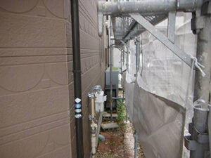 「築9年の外壁塗装!目地を修復し新築同様に生まれ変わったS様邸(千葉県松戸市)」のBefore写真