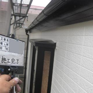 レンガ風のサイディング外壁を、シンプルモダンなデザインに塗装した事例