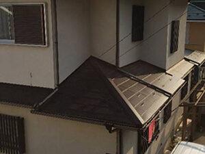 「築16年のモルタル外壁をフッ素樹脂塗料で塗装!光沢のある住宅に!(千葉県松戸市)」のBefore写真