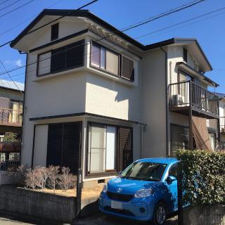 築10年のモルタル外壁を塗装した事例。門扉も塗装し、ピカピカに!(千葉県松戸市)