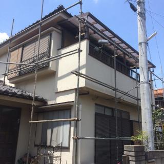 ひび割れが生じたモルタル外壁を補修し、約13年ぶりに再塗装!(神奈川県横浜市)
