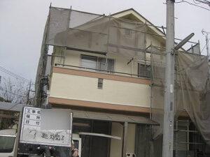 「黒ずみの生じたモルタル外壁を塗装!さっぱりキレイに見違えました!(東京都八王子市)」のAfter写真