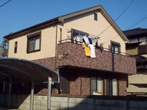 「2種類のサイディングボードを色を変えて塗装したT様邸(千葉県習志野市)」のBefore写真