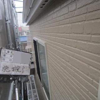 チョーキングが発生した外壁、黒ずみが目立つベランダを一緒に塗装!(東京都大田区)