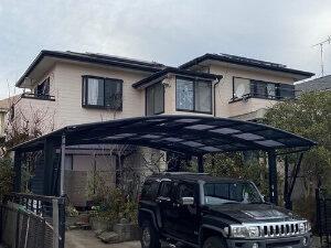 「外壁塗装と屋根の重ね葺きで新築のような輝きがよみがえったY様邸(千葉県千葉市)」のBefore写真