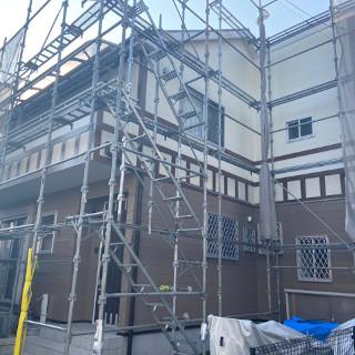 コケが気になる外壁と、塗装が色あせた屋根をまとめて塗装!(東京都福生市)